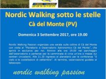 Nordic walking under the stars
